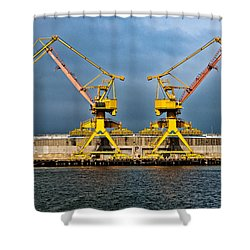 Pair Of Cranes Shower Curtain by Christopher Holmes
