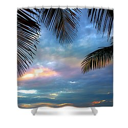 Palm Curtains Shower Curtain by Susanne Van Hulst