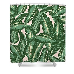 Palm Print Shower Curtain by Lauren Amelia Hughes