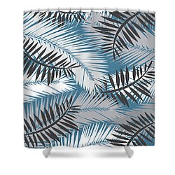 Palm Trees 10 Shower Curtain by Mark Ashkenazi
