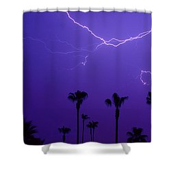 Palm Trees And Spider Lightning Striking Shower Curtain by James BO  Insogna
