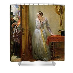 Palpitation Shower Curtain by Charles West Cope