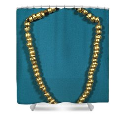 Panama: Gold Beads, C1000 Shower Curtain by Granger