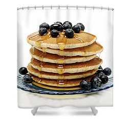 Pancakes Shower Curtain by Glennis Siverson