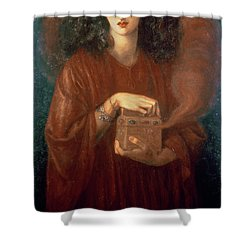 Pandora Shower Curtain by Dante Charles Gabriel Rossetti