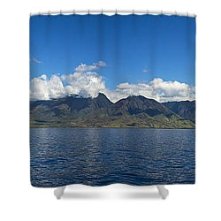 Panoramic West Maui Shower Curtain by Dave Fleetham - Printscapes