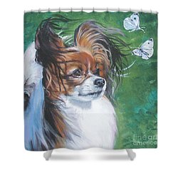 Papillon And Butterflies Shower Curtain by Lee Ann Shepard