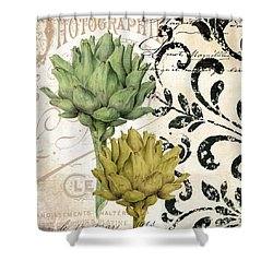 Paris Artichokes Shower Curtain by Mindy Sommers