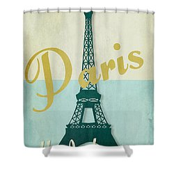 Paris City Of Light Shower Curtain by Mindy Sommers