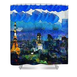 Paris Inside Tokyo Shower Curtain by Sir Josef - Social Critic - ART