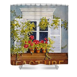 Parisian Window Shower Curtain by Mary Ellen Mueller Legault