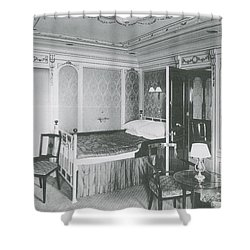 Parlour Suite Of Titanic Ship Shower Curtain by Photo Researchers