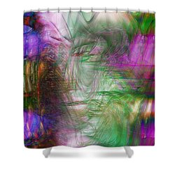 Passage Through Life Shower Curtain by Linda Sannuti