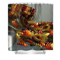 Pasta Spillage Shower Curtain by Robert Frederick