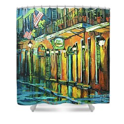 Pat O Briens Shower Curtain by Dianne Parks