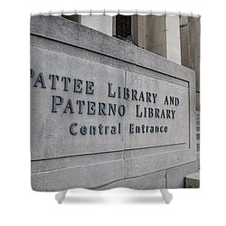 Paterno Library At Penn State  Shower Curtain by John McGraw