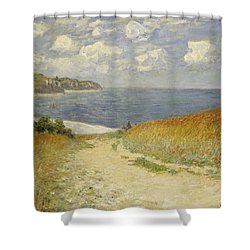 Path In The Wheat At Pourville Shower Curtain by Claude Monet