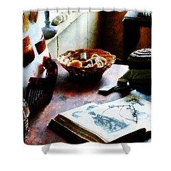 Pattern Book Shower Curtain by Susan Savad