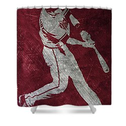 Paul Goldschmidt Arizona Diamondbacks Art Shower Curtain by Joe Hamilton