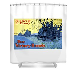 Pave The Way To Victory Shower Curtain by War Is Hell Store