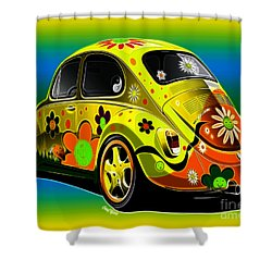 Peace Shower Curtain by Cheryl Young