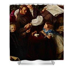 Peace Concluded Shower Curtain by Sir John Everett Millais