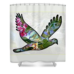 Peace For Peace Shower Curtain by Mindy Newman