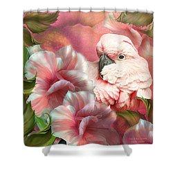 Peek A Boo Cockatoo Shower Curtain by Carol Cavalaris