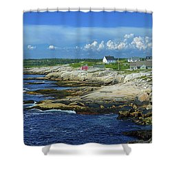 Shower Curtain featuring the photograph Peggy's Cove by Rodney Campbell