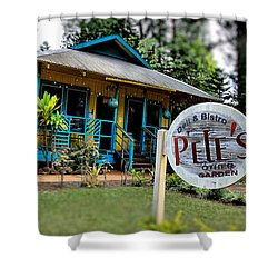 Pele's Lanai Style Shower Curtain by DJ Florek