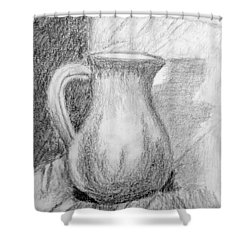 Pencil Pitcher Shower Curtain by Jamie Frier