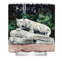 Penn State Nittany Lion Shrine University Happy Valley Joe Paterno Shower Curtain by Laura Row