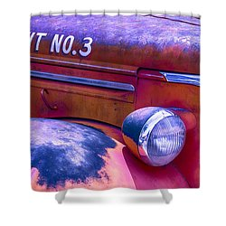 Permit No 3 Shower Curtain by Garry Gay