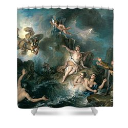 Perseus Rescuing Andromeda Shower Curtain by Charles Antoine Coypel