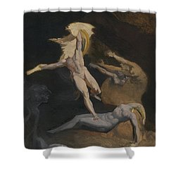 Perseus Slaying The Medusa Shower Curtain by Henry Fuseli