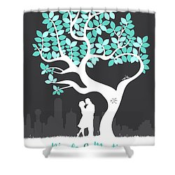 Personalized Dallas Texas Skyline Wedding Gift Shower Curtain by Aged Pixel