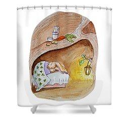 Peter Rabbit  Shower Curtain by Irina Sztukowski