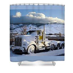 Peterbilt Shower Curtain by Daniel Furon