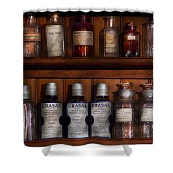 Pharmacy - Bonafide Cures Shower Curtain by Mike Savad
