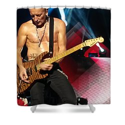 Phil Collen Of Def Leppard 2 Shower Curtain by David Patterson