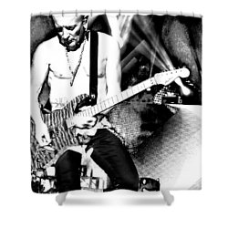 Phil Collen Of Def Leppard 4 Shower Curtain by David Patterson