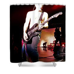 Phil Collen Of Def Leppard 6 Shower Curtain by David Patterson