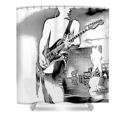 Phil Collen Of Def Leppard Shower Curtain by David Patterson
