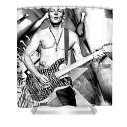 Phil Collen With Def Leppard Shower Curtain by David Patterson