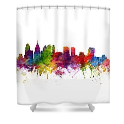 Philadelphia Cityscape 06 Shower Curtain by Aged Pixel