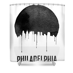 Philadelphia Skyline White Shower Curtain by Naxart Studio