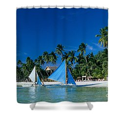 Philippines, Boracay Isla Shower Curtain by Gloria & Richard Maschmeyer - Printscapes