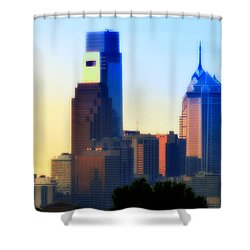 Philly Morning Shower Curtain by Bill Cannon