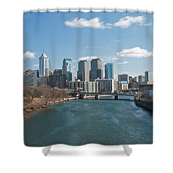 Philly Winter Shower Curtain by Jennifer Ancker