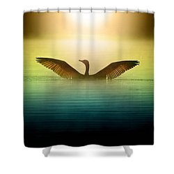 Phoenix Rising Shower Curtain by Rob Blair